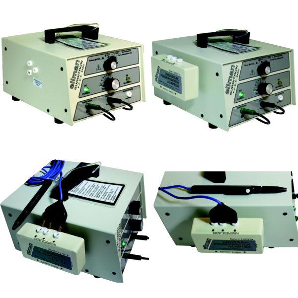 Последовательность подключения адаптера для наконечника-держателя ручного включения к боковой панели прибора портативного для электро-радиохирургии «Сургитрон»