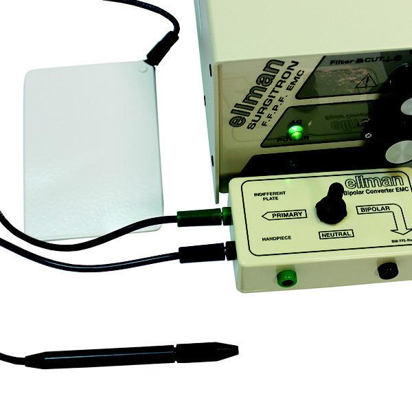 Подключение антенной пластины и монополярного наконечника-держателя к биполярному преобразователю